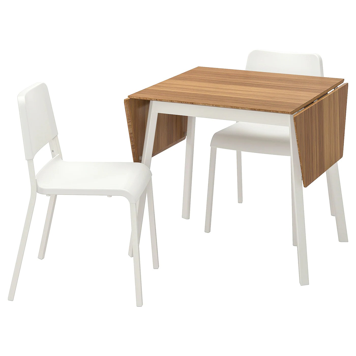 ikea ps 2012 teodores table et 2 chaises bambou blanc blanc