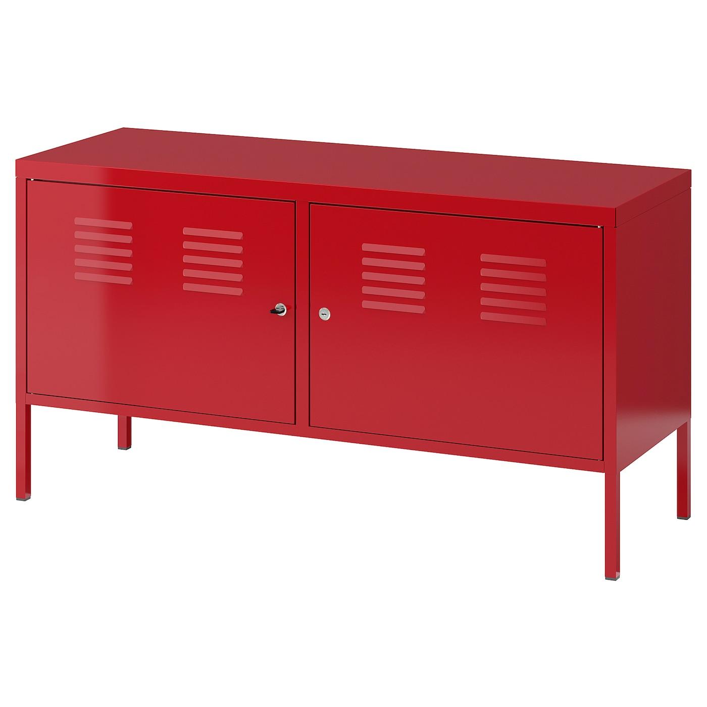 ikea ps armoire metallique rouge 119x63 cm