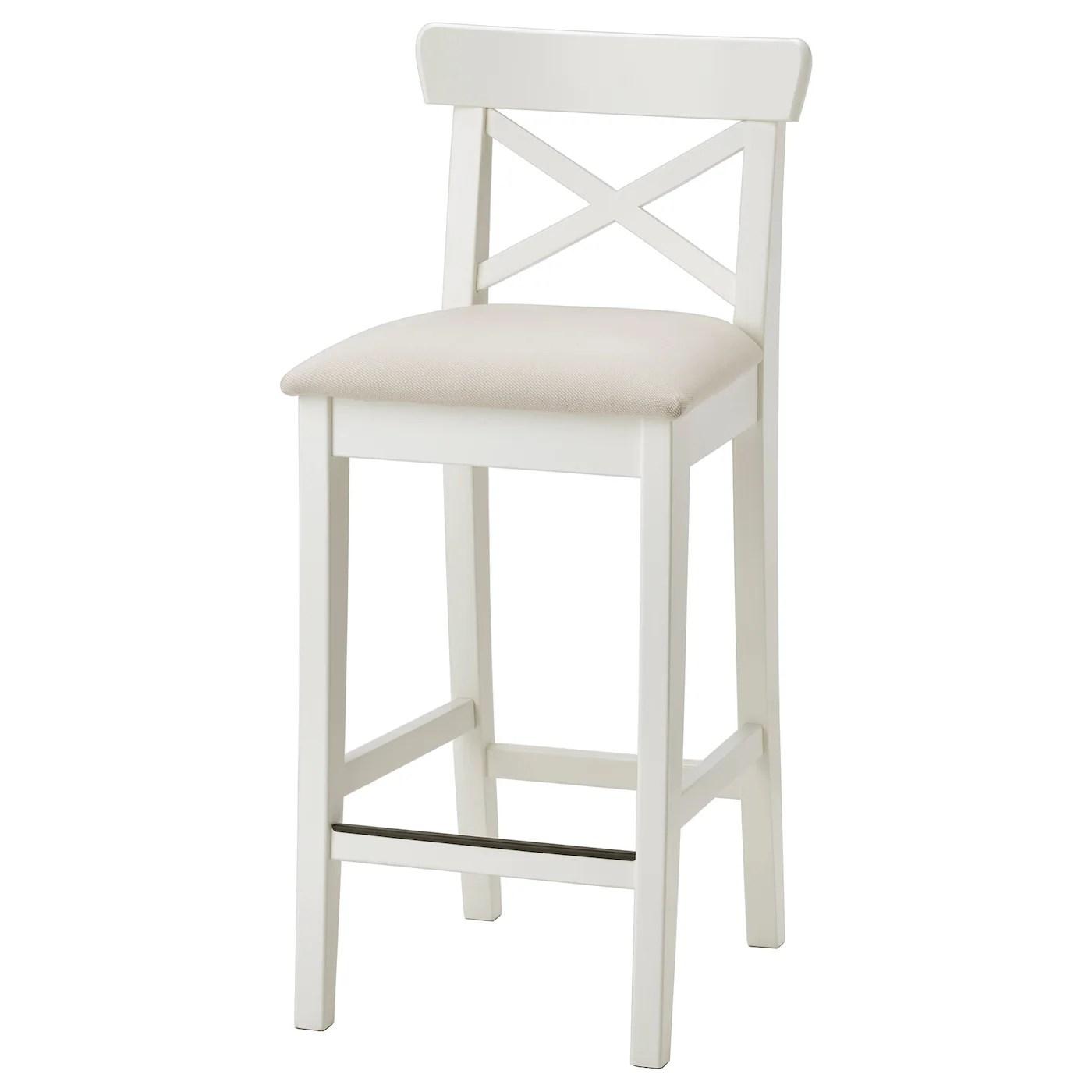 Ingolf Chaise De Bar Blanc Hallarp Beige 65 Cm Ikea