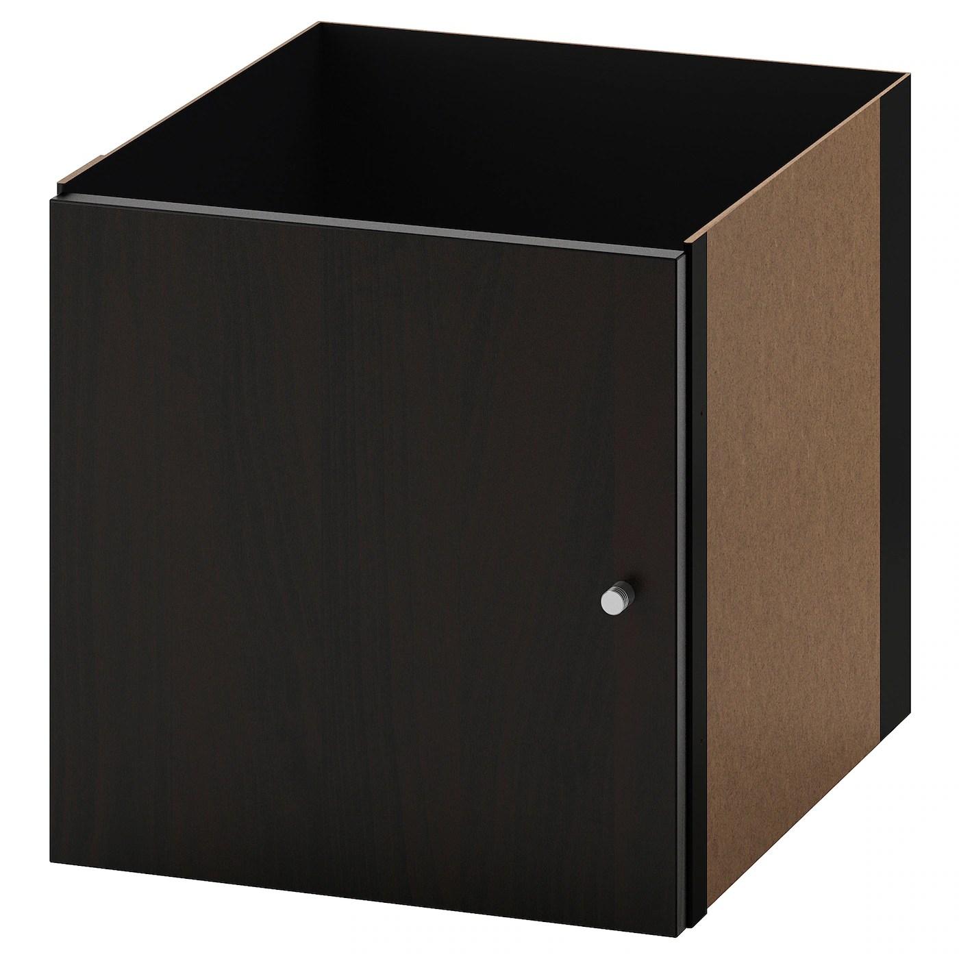 kallax bloc porte brun noir 33x33 cm
