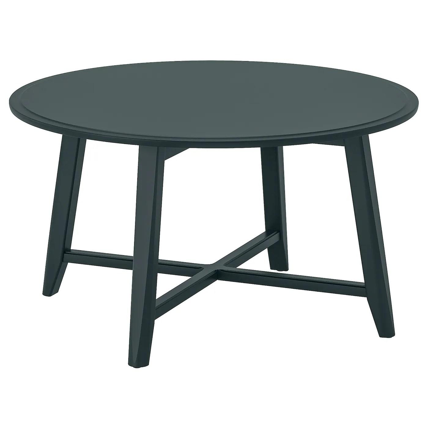 kragsta table basse bleu vert fonce 90 cm