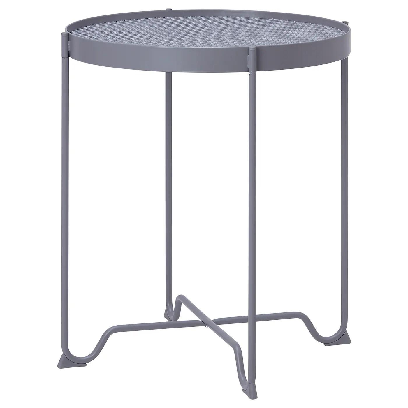 krokholmen table d appoint exterieur gris 50 cm