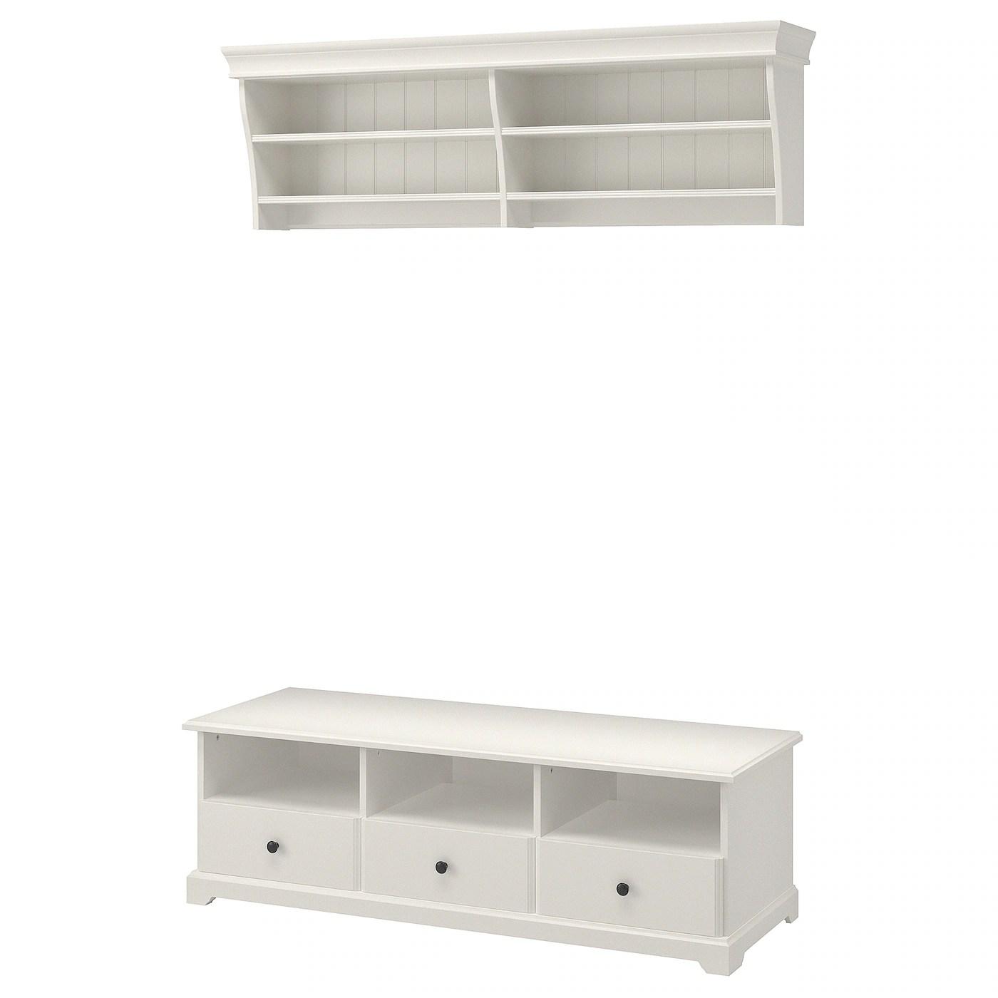 liatorp combinaison meuble tv blanc 145x49 cm