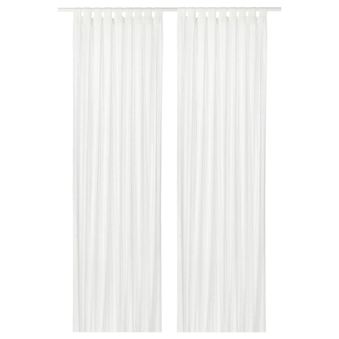 matilda voilage 2 pieces blanc 140x300 cm