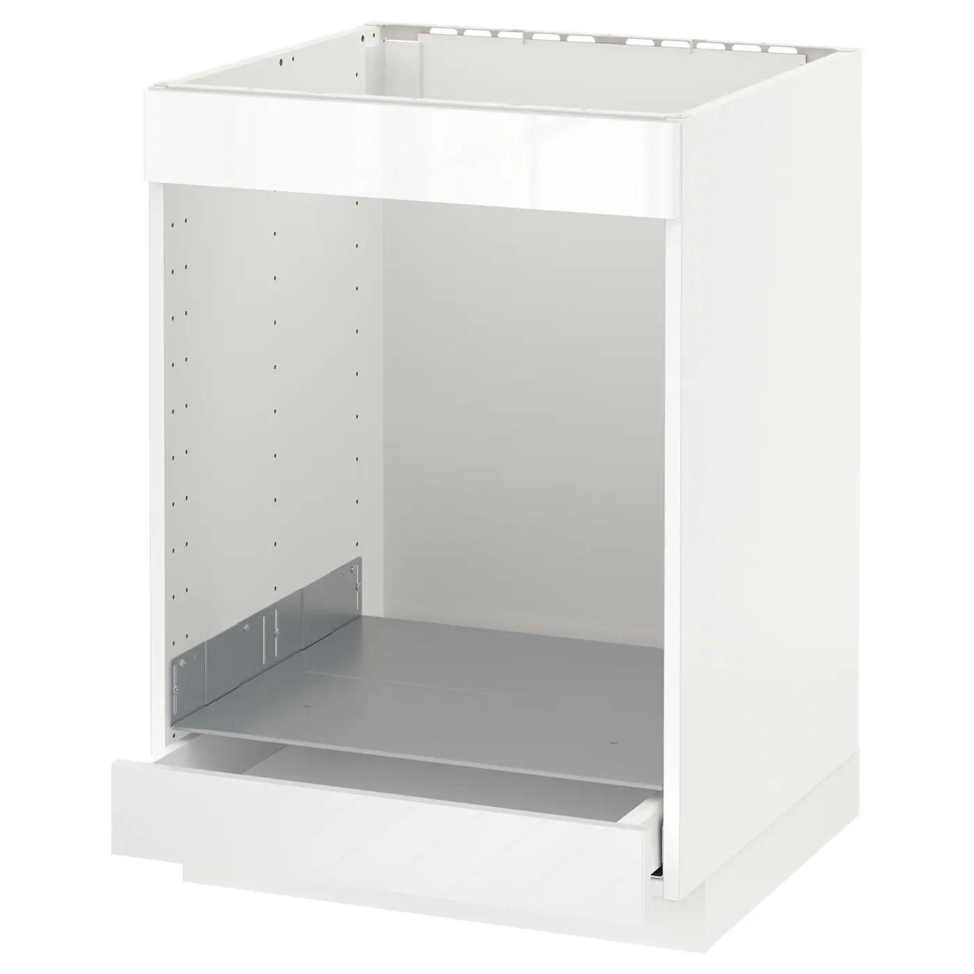 metod maximera element bas table cuisson four tir blanc ringhult blanc 60x60 cm