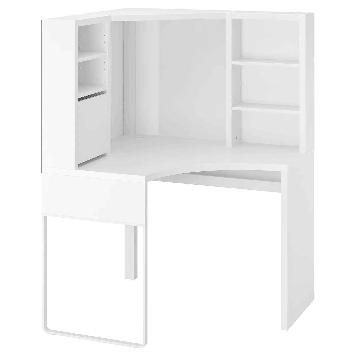 micke poste de travail d angle blanc 100x142 cm