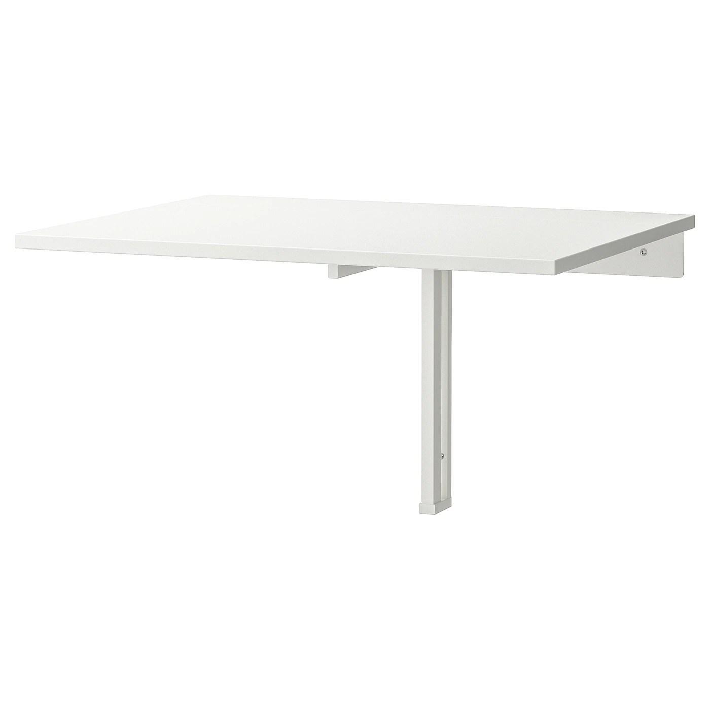 norberg table murale a rabat blanc 74x60 cm