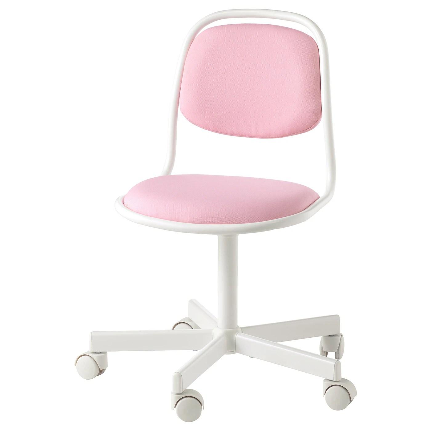 orfjall chaise de bureau enfant blanc vissle rose