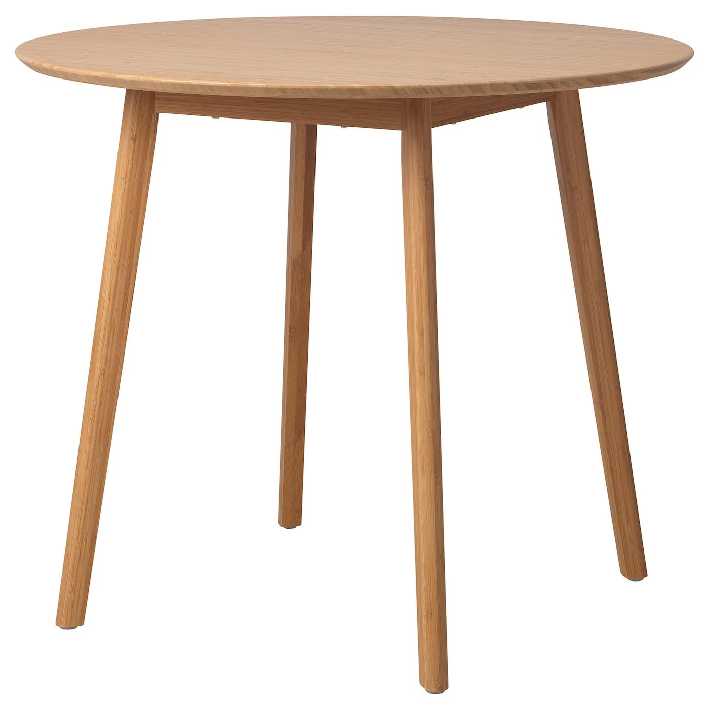 oppli table bambou 90 cm