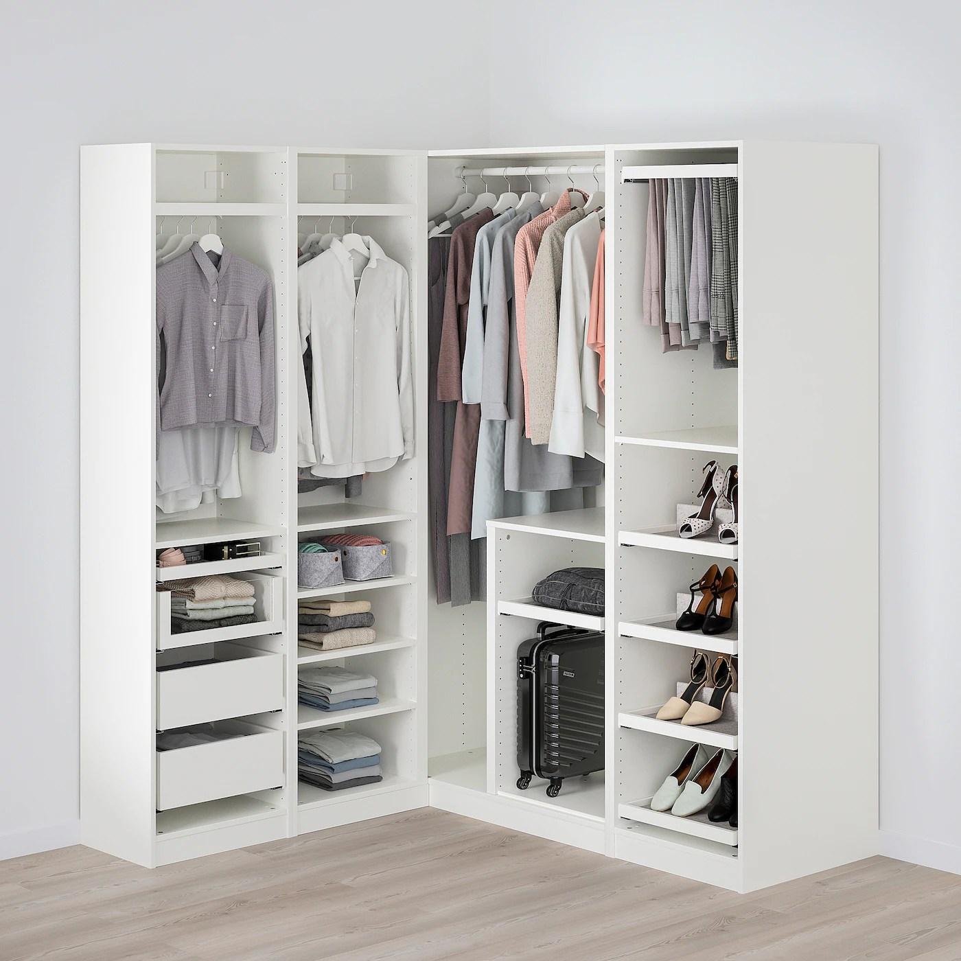 pax armoire d angle blanc 160 163x201 cm