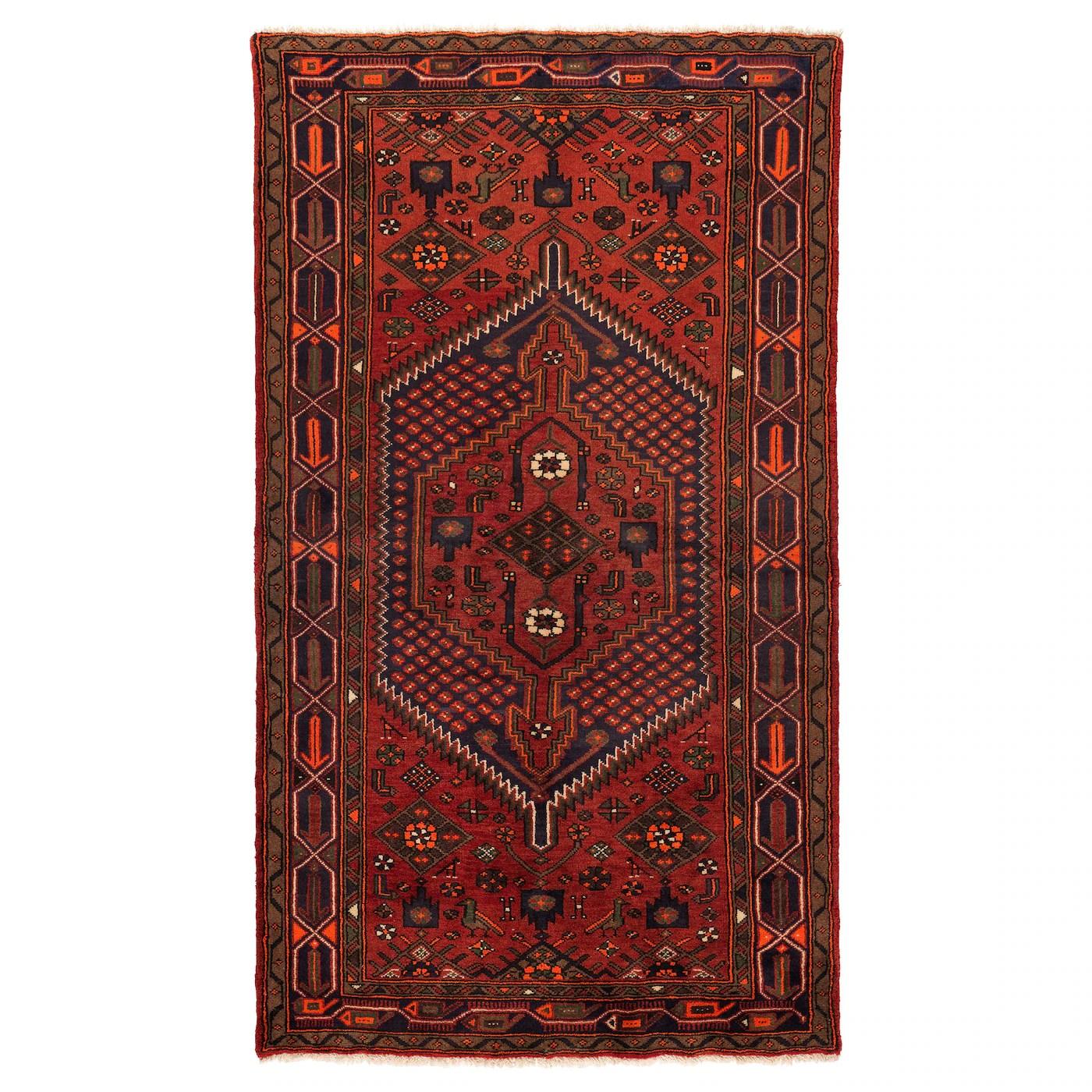 persisk hamadan tapis poils ras fait main motifs divers 140x200 cm