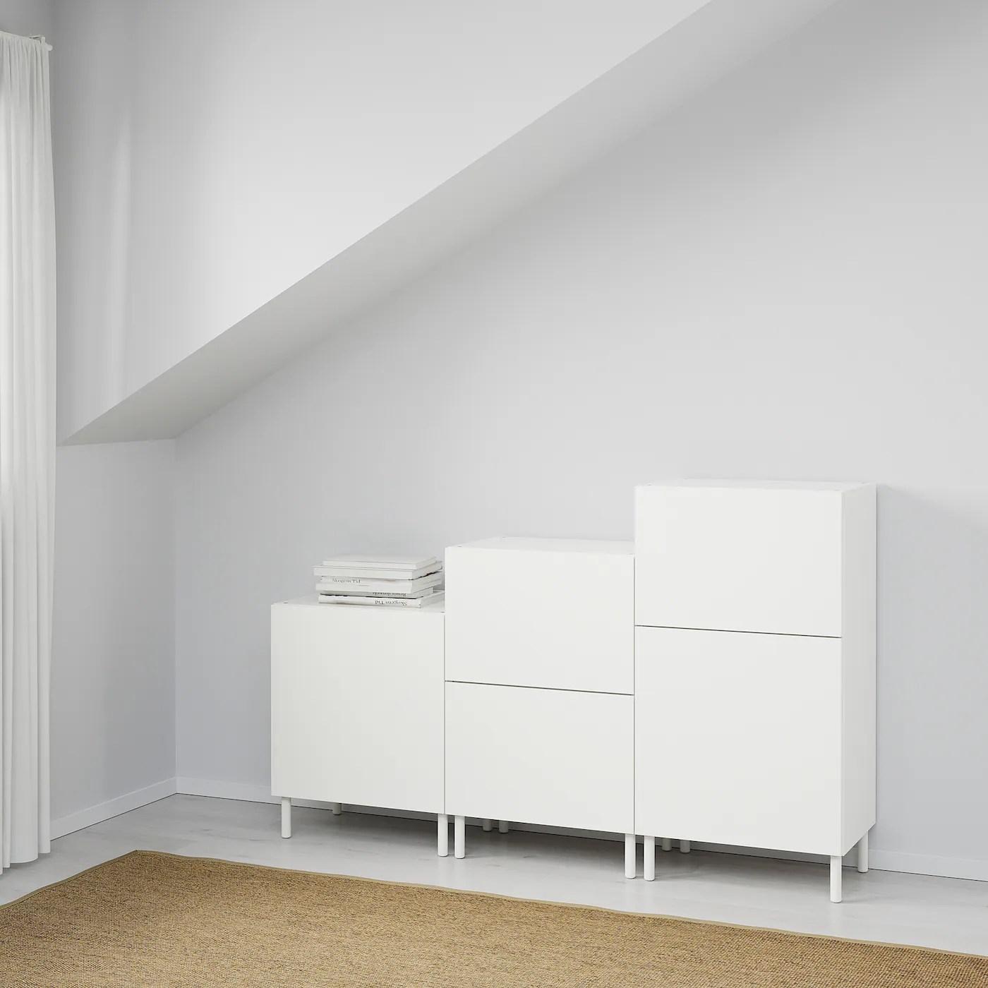 Platsa Meuble De Rangement Blanc Fonnes Blanc Ikea