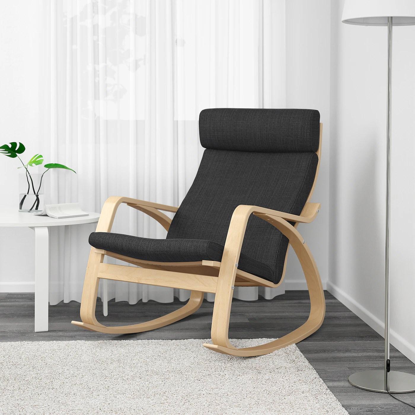 poang fauteuil a bascule plaque bouleau hillared anthracite