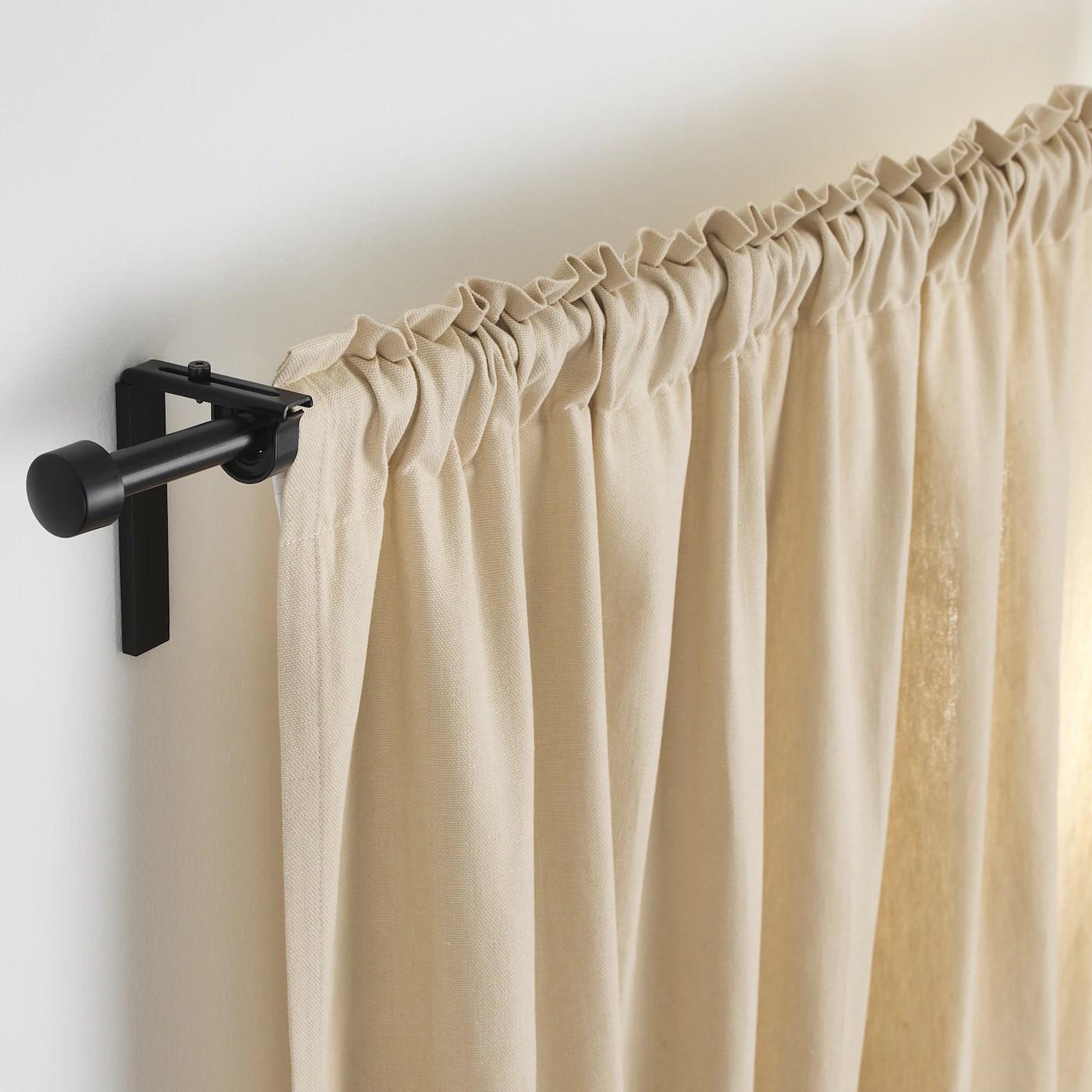 racka combinaison tringle a rideaux noir 120 210 cm