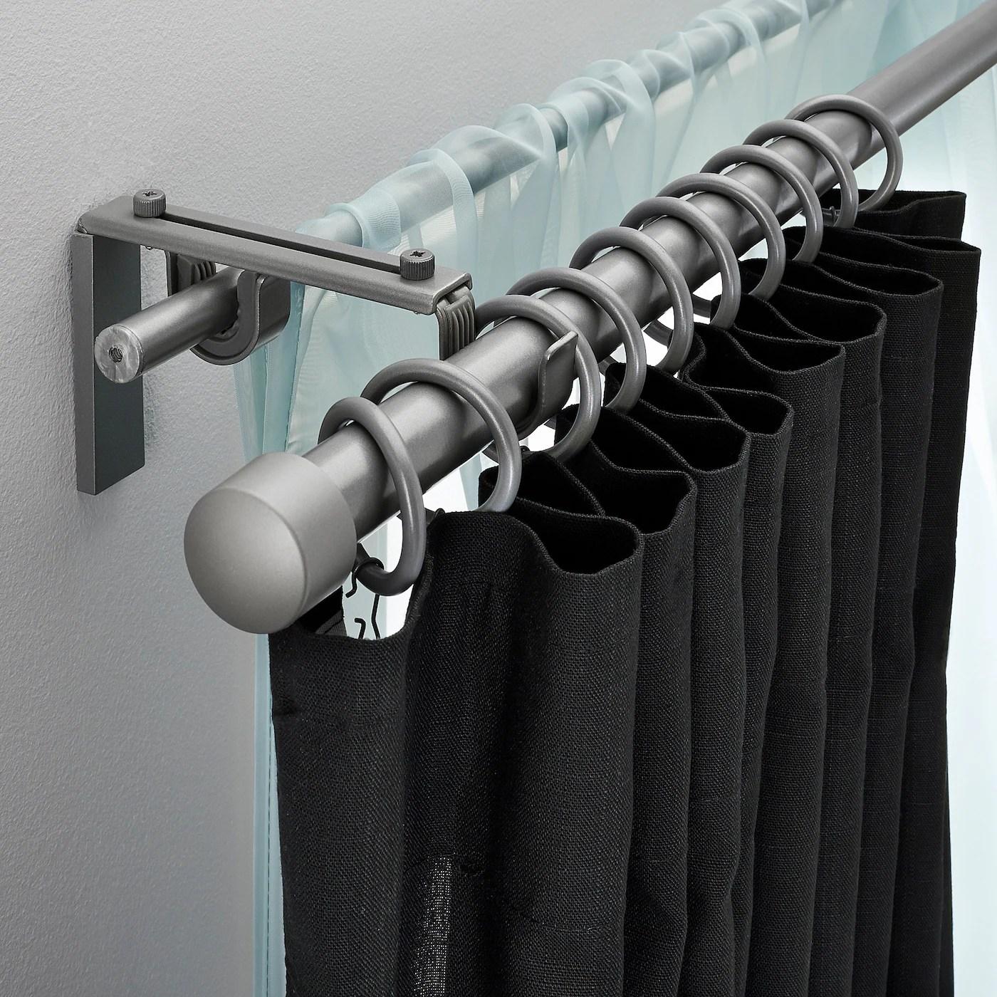 racka hugad combi tringle a rideaux double couleur argent 210 385 cm