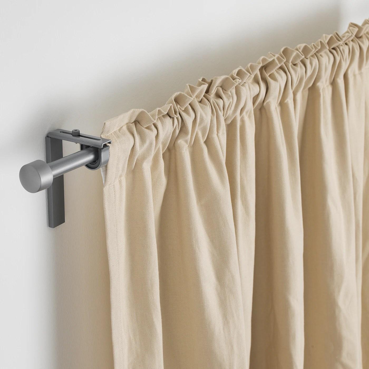 racka tringle a rideau couleur argent 70 120 cm