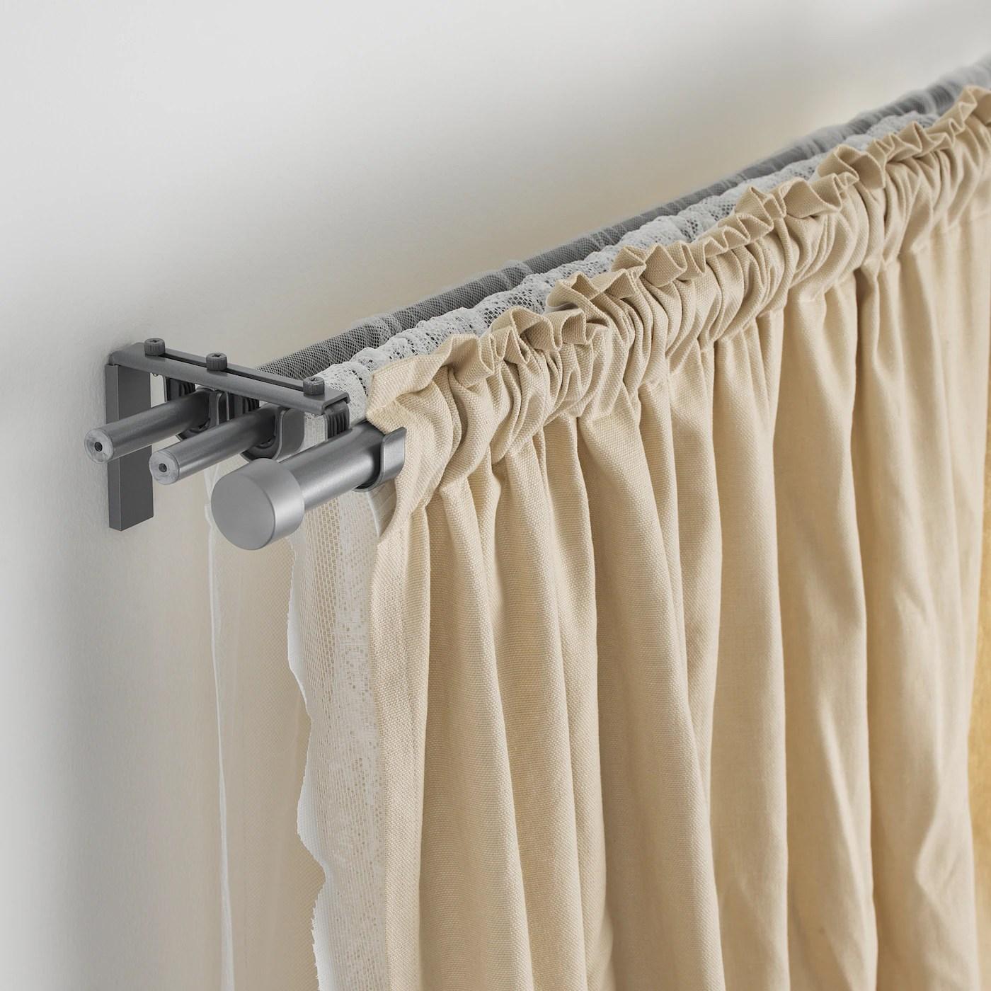 racka tringle a rideau couleur argent 210 385 cm