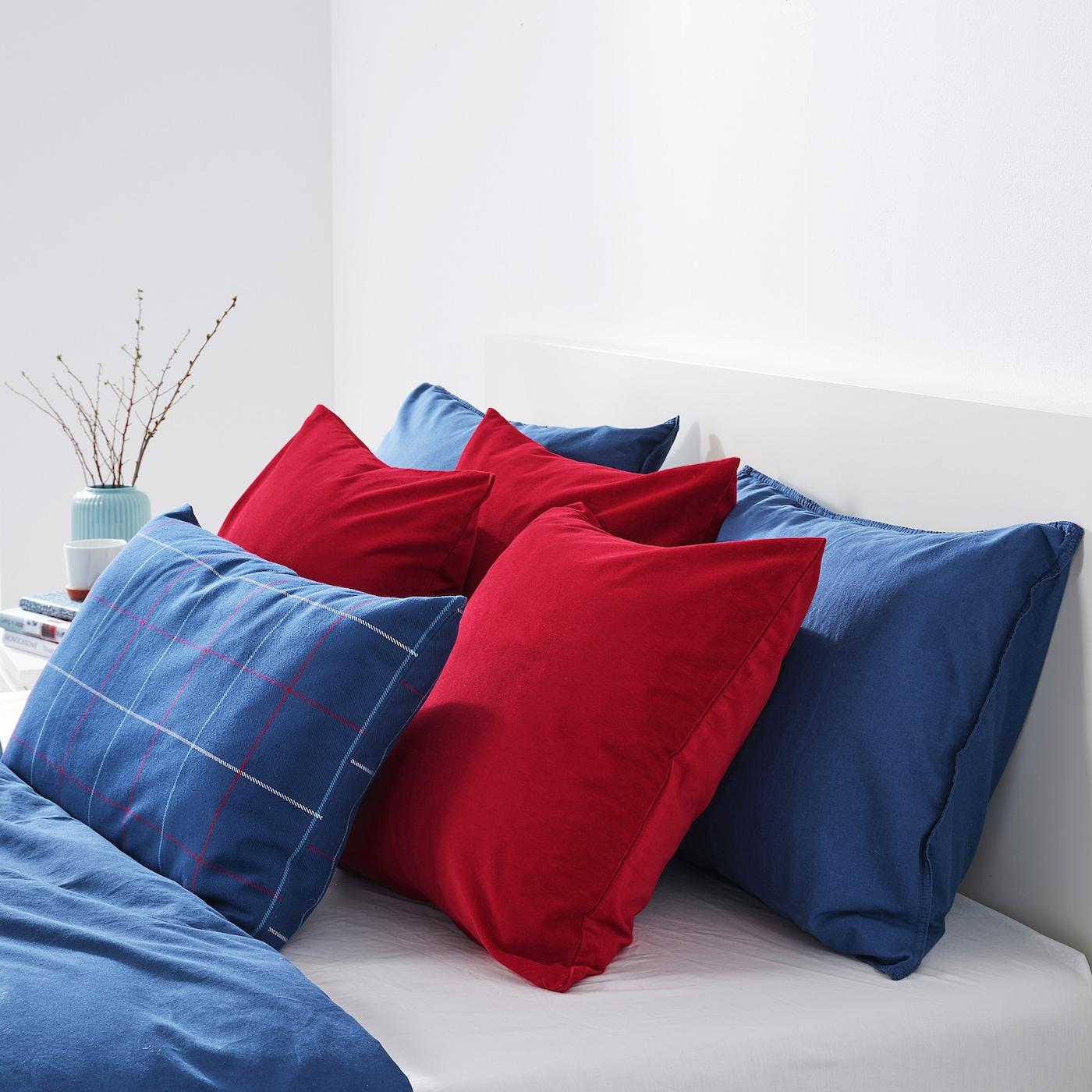 sanela housse de coussin rouge 50x50 cm