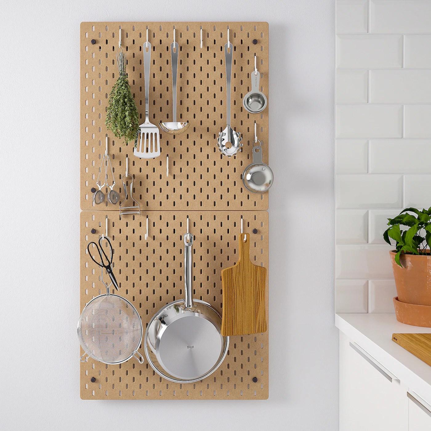 skadis panneau perfore combinaison bois 56x112 cm