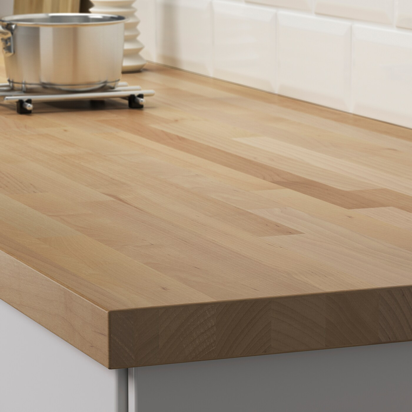 Skogarp Plan De Travail Sur Mesure Bouleau Bois Massif 45 Ikea