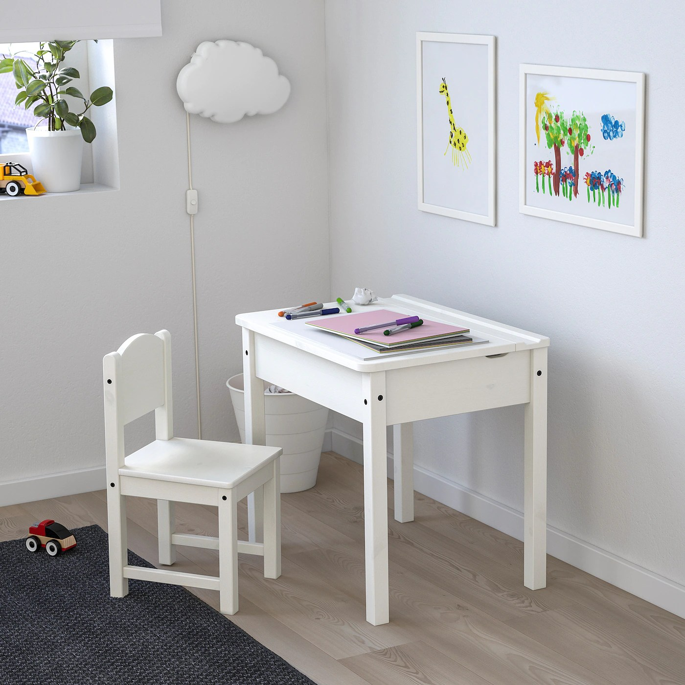 sundvik bureau enfant blanc 60x45 cm