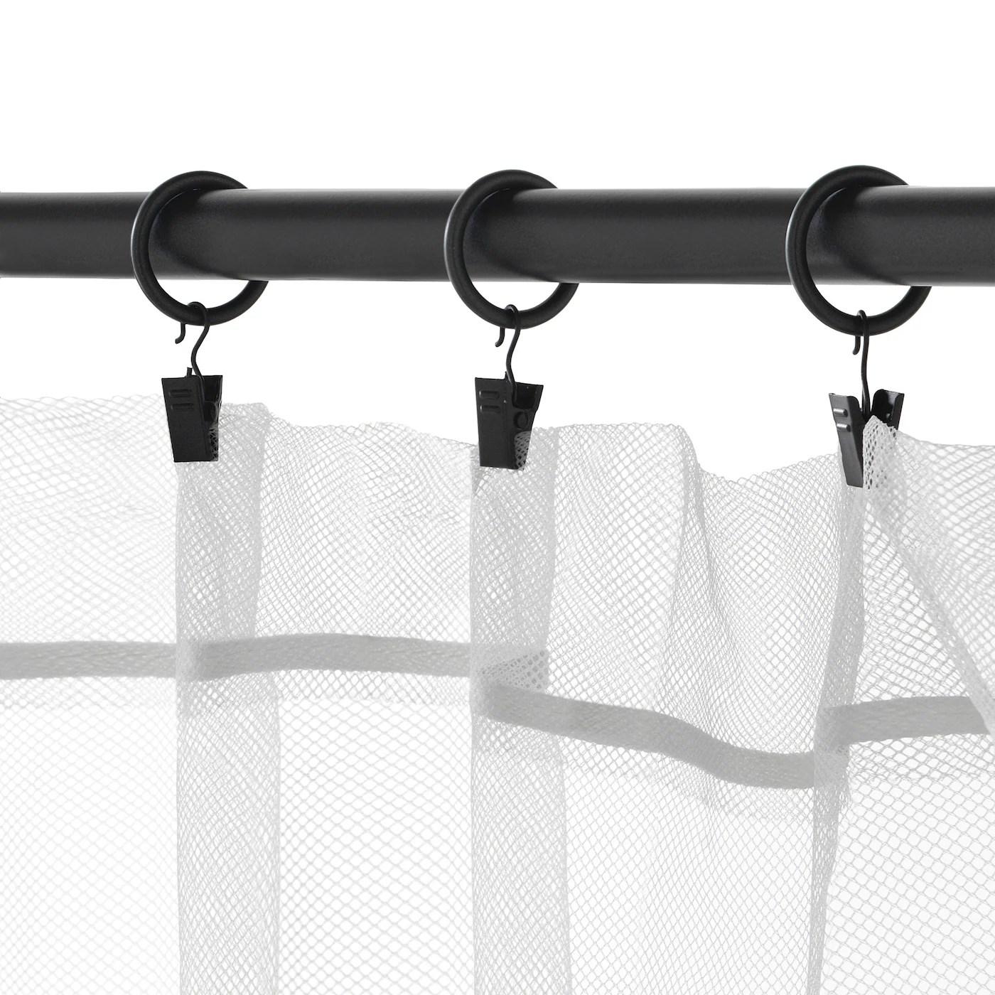 syrlig anneau rideau clip crochet noir 25 mm