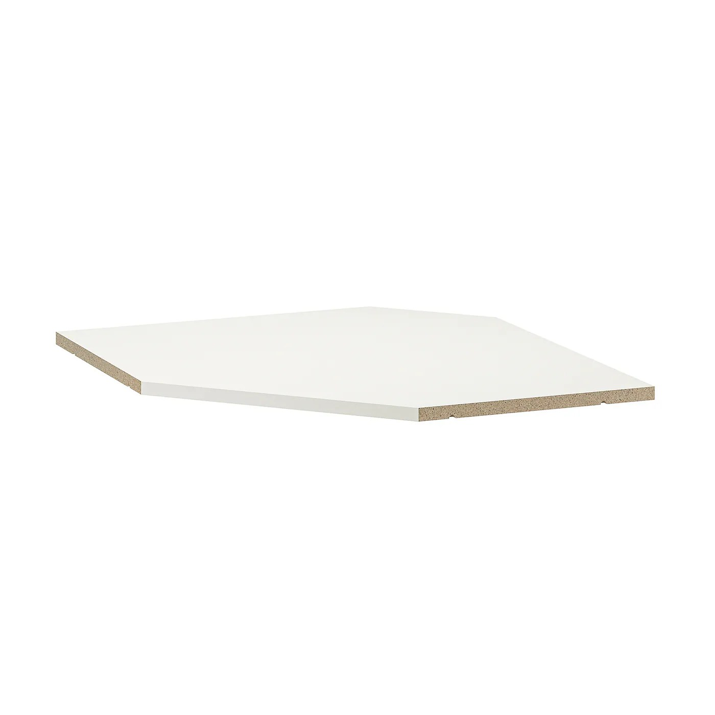 utrusta tablette element mural d angle blanc 68 cm