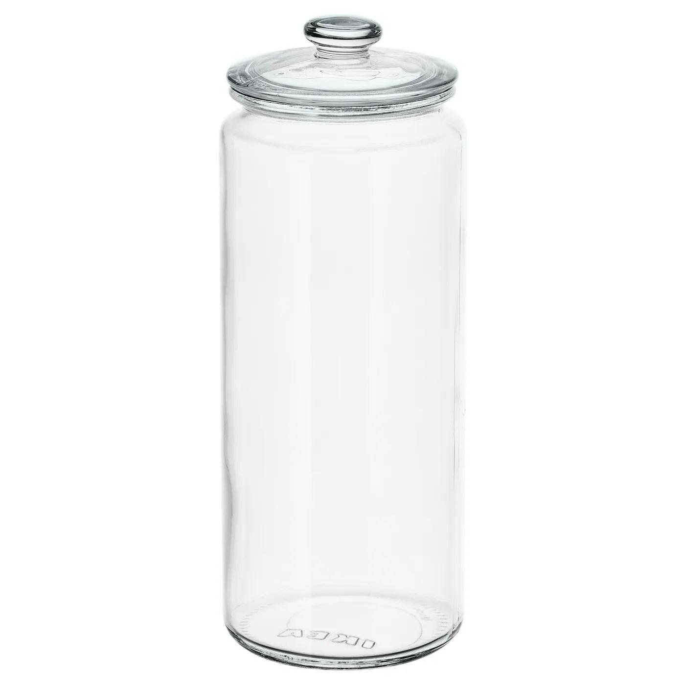 vardagen bocal avec couvercle verre transparent 1 8 l