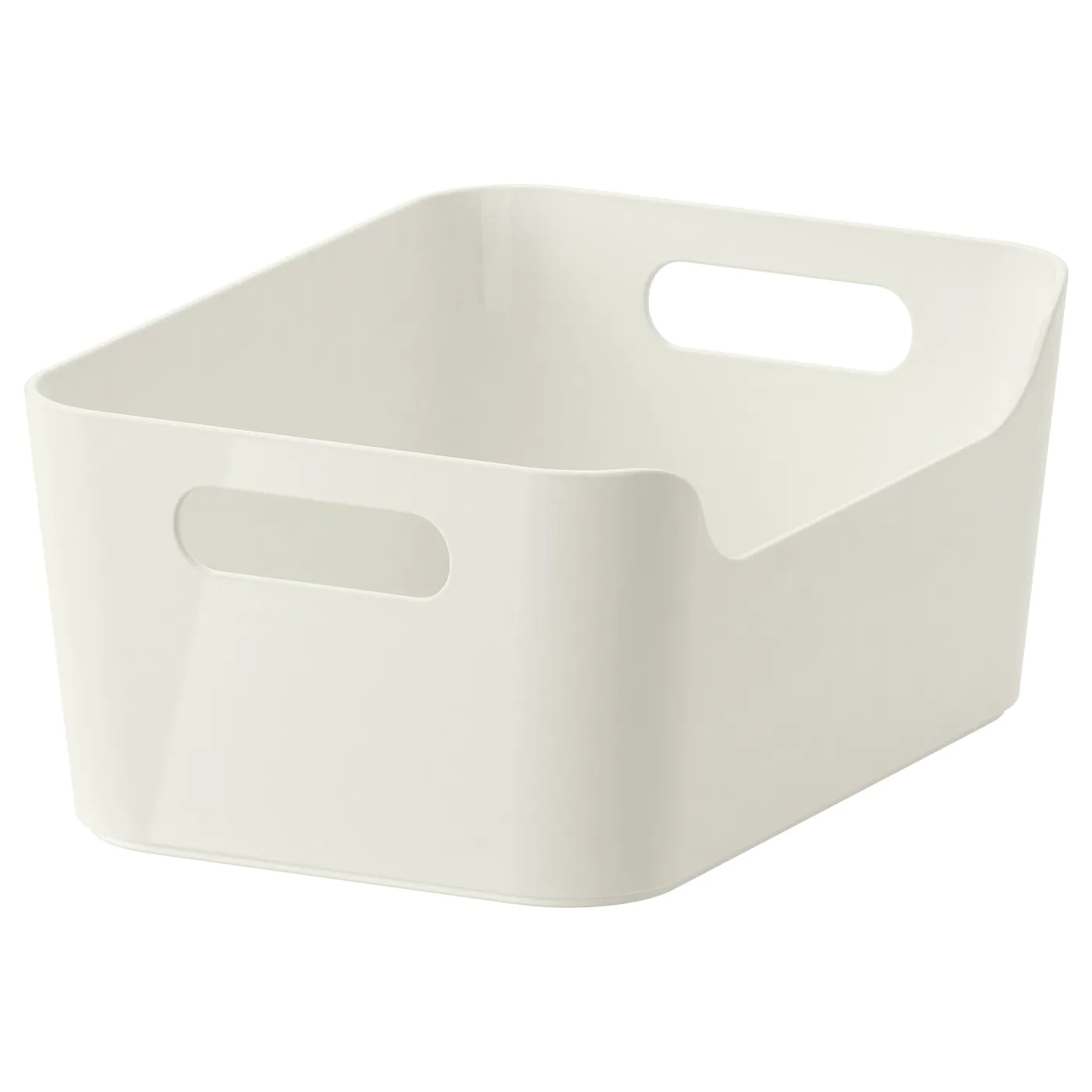 Variera Boite Blanc Brillant 24x17 Cm Ikea