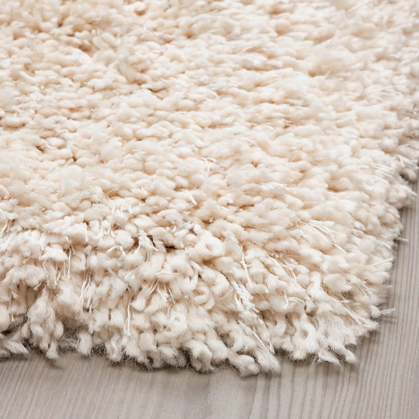 vollerslev tapis poils hauts blanc 160x230 cm