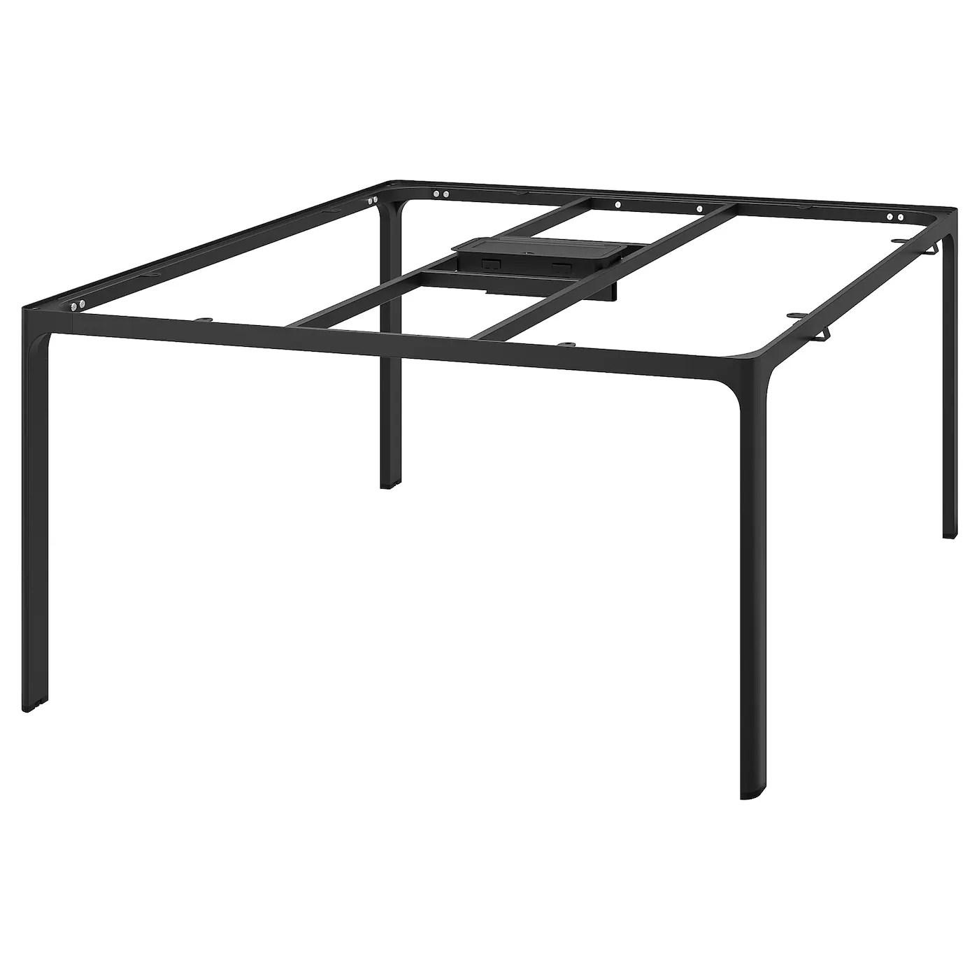 bekant frame for table top black 140x140 cm