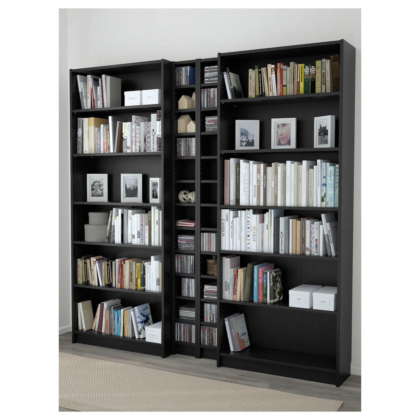 BILLYGNEDBY Bookcase Black Brown 200 X 202 X 28 Cm IKEA