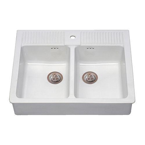 DOMSJÖ Sink bowl white Width: 82.4 cm Depth: 64.1 cm