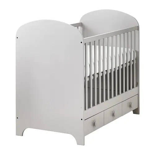 Ikea Gonatt Cot The Base Can Be Placed At Two Diffe Heights