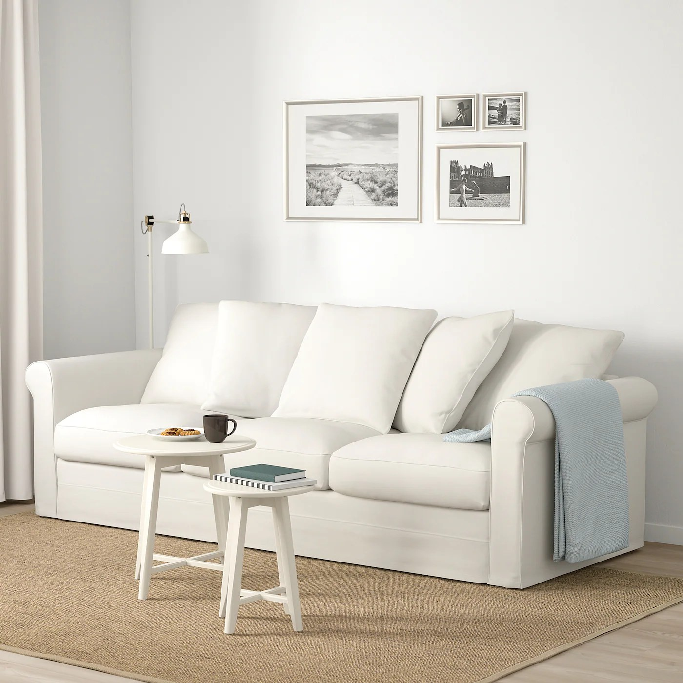 The best way to tell the loveseat and sofa. GRÖNLID 3-seat sofa - Inseros white - IKEA