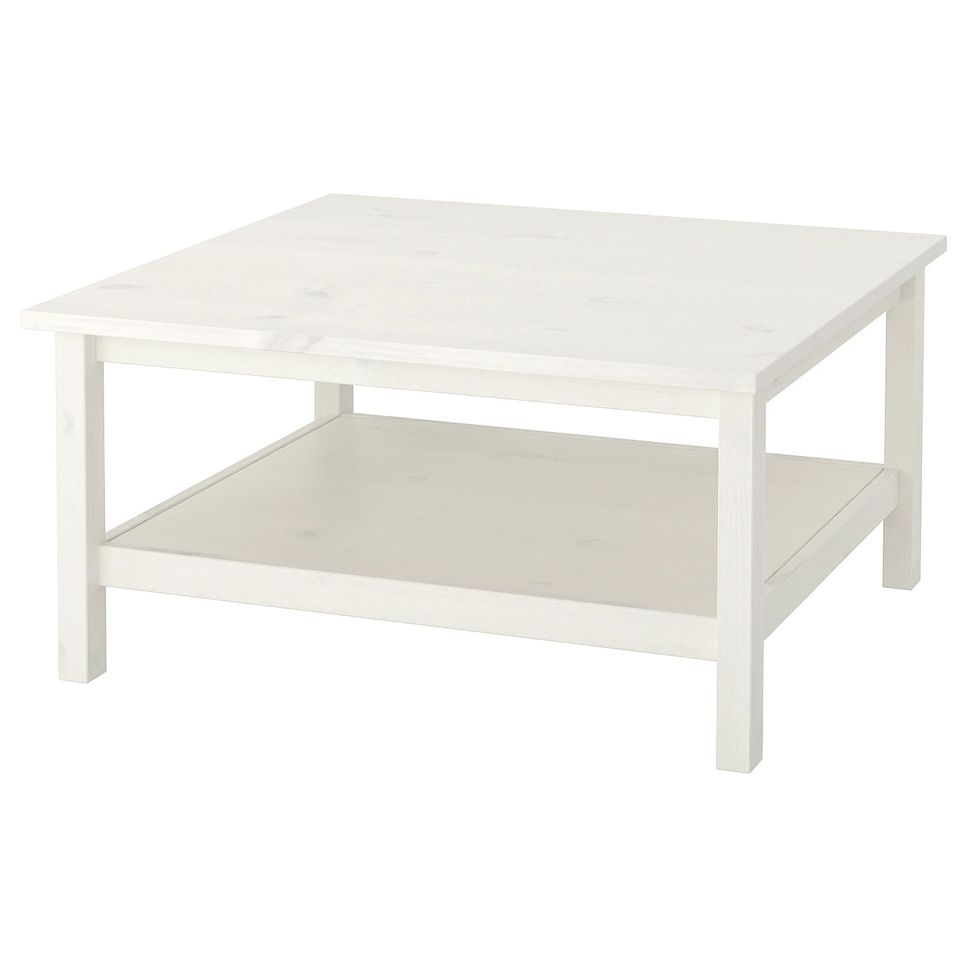 hemnes coffee table white stain 90x90 cm