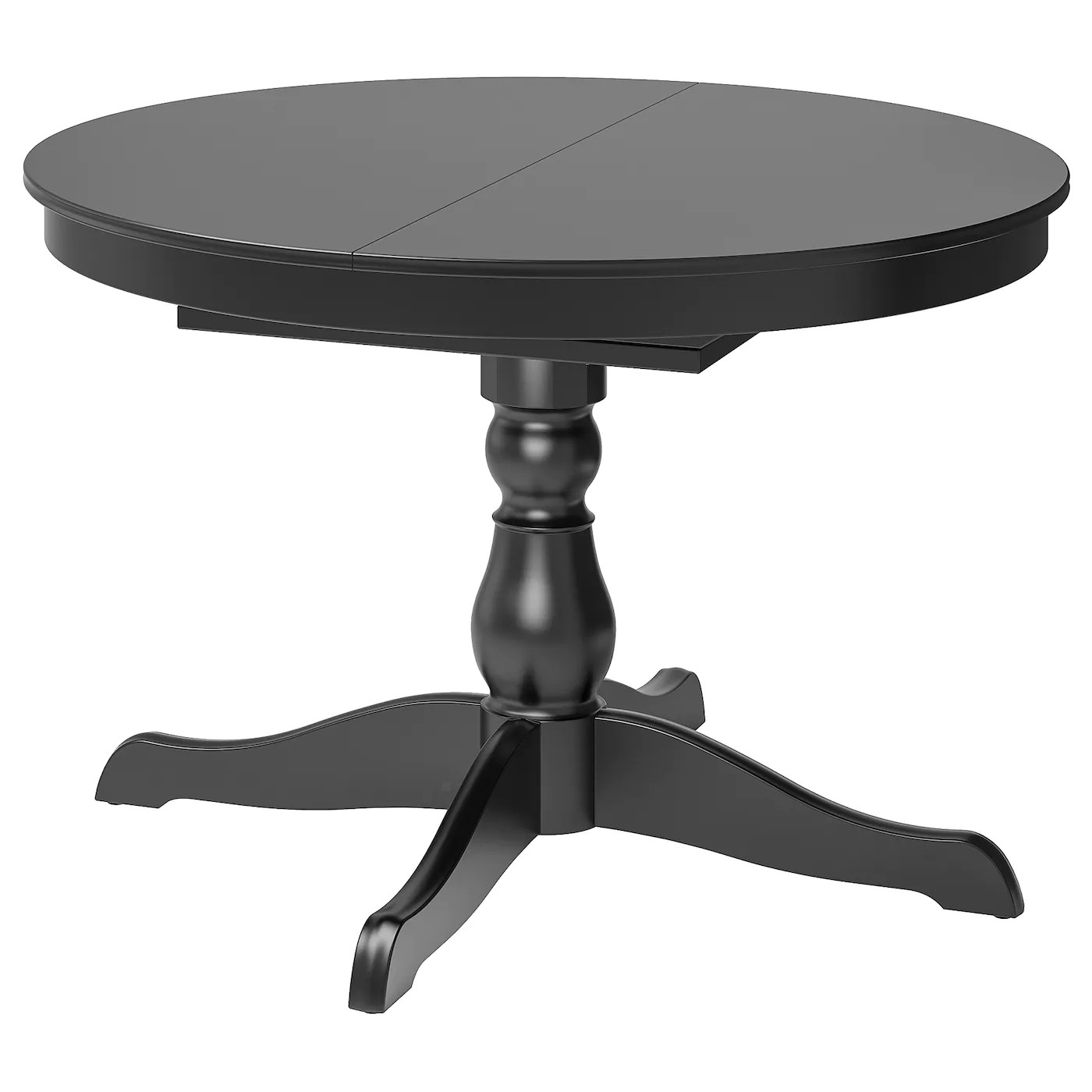 ingatorp extendable table black 110 155 cm