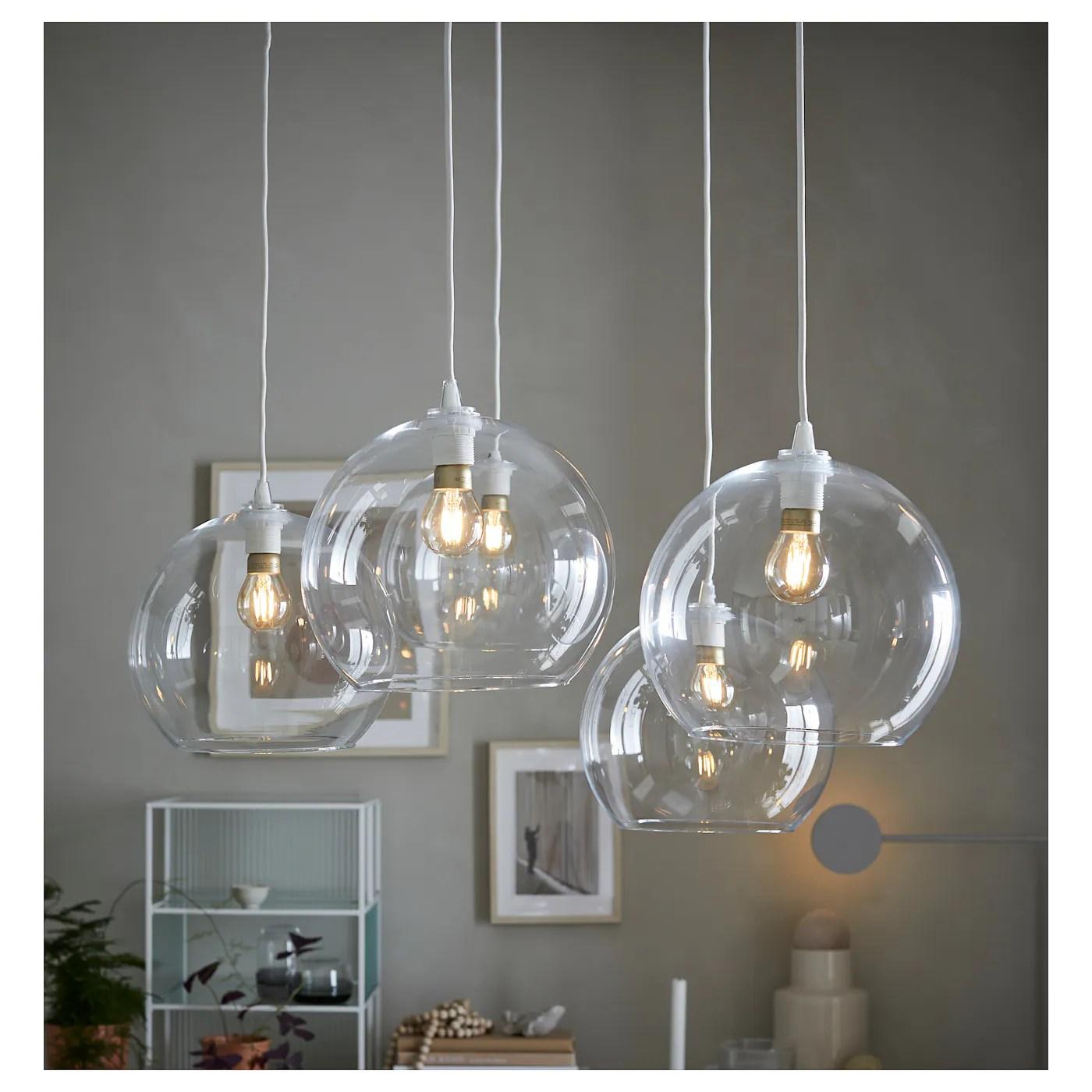 Jakobsbyn Clear Glass Pendant Lamp Shade Ikea