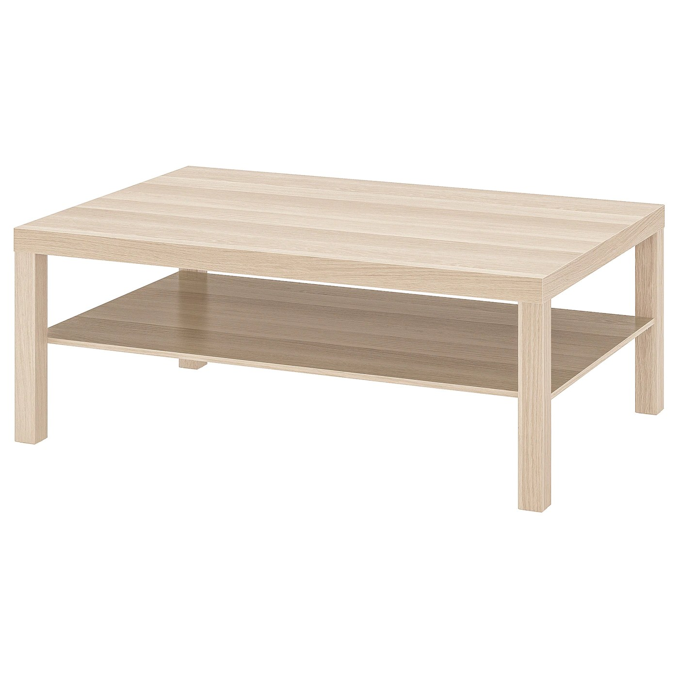 lack coffee table white stained oak effect 118x78 cm