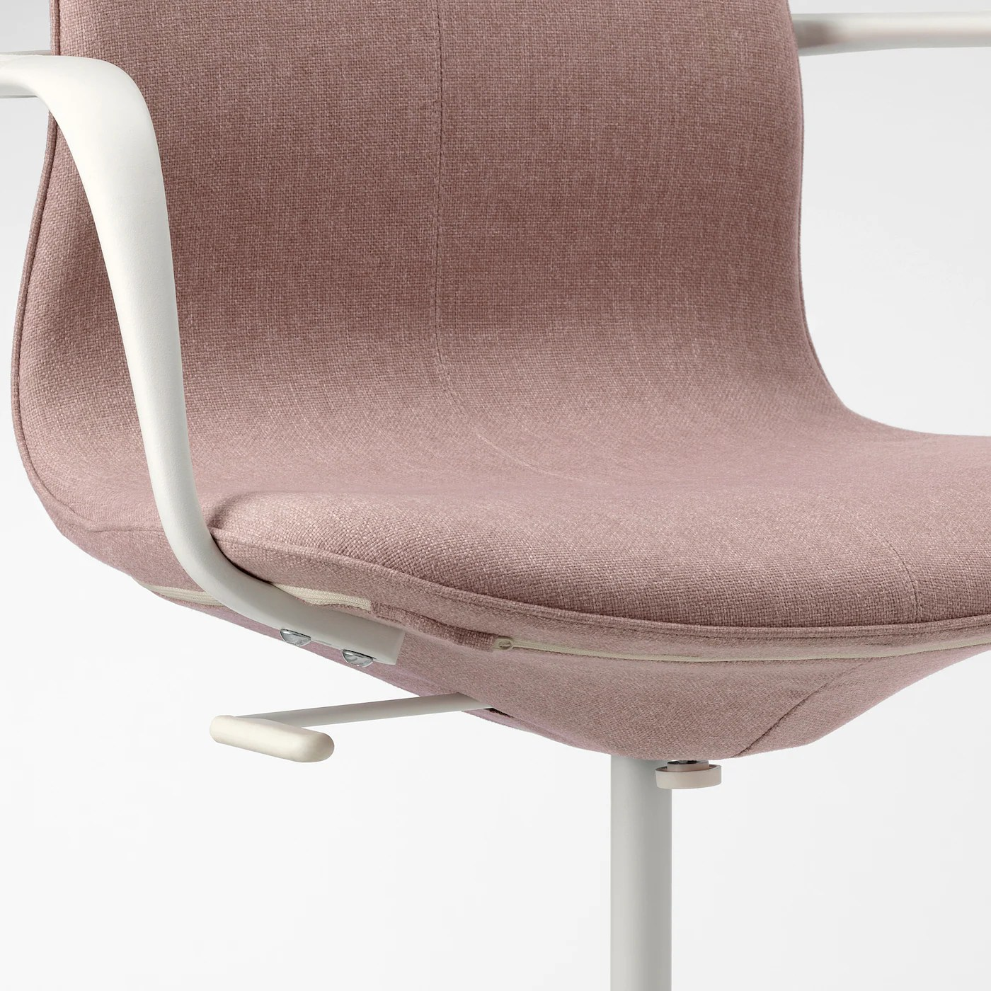 Langfjall Gunnared Light Brown Pink Office Chair With Armrests Tested For 110 Kg Width 68 Cm Ikea