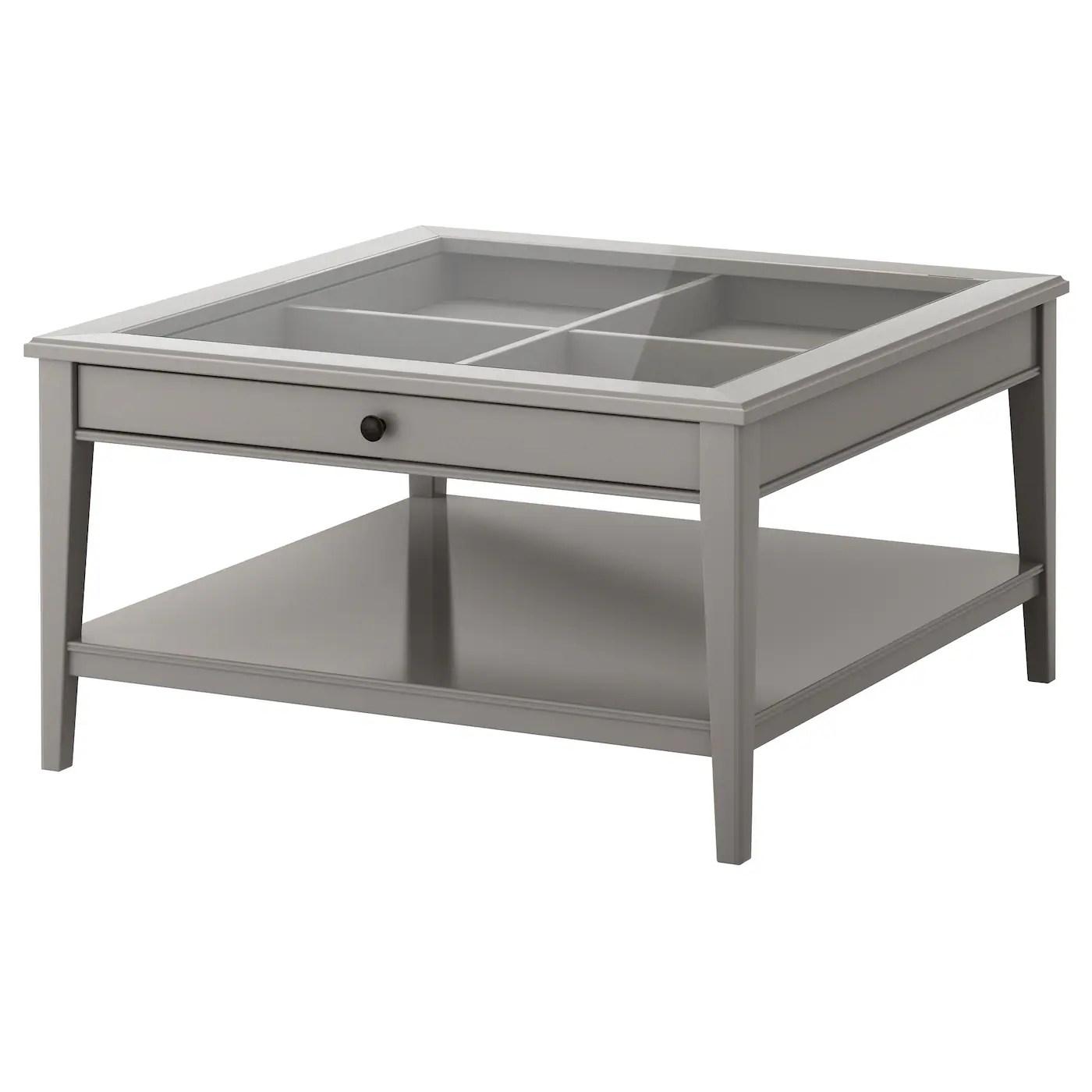liatorp coffee table grey glass 93x93 cm