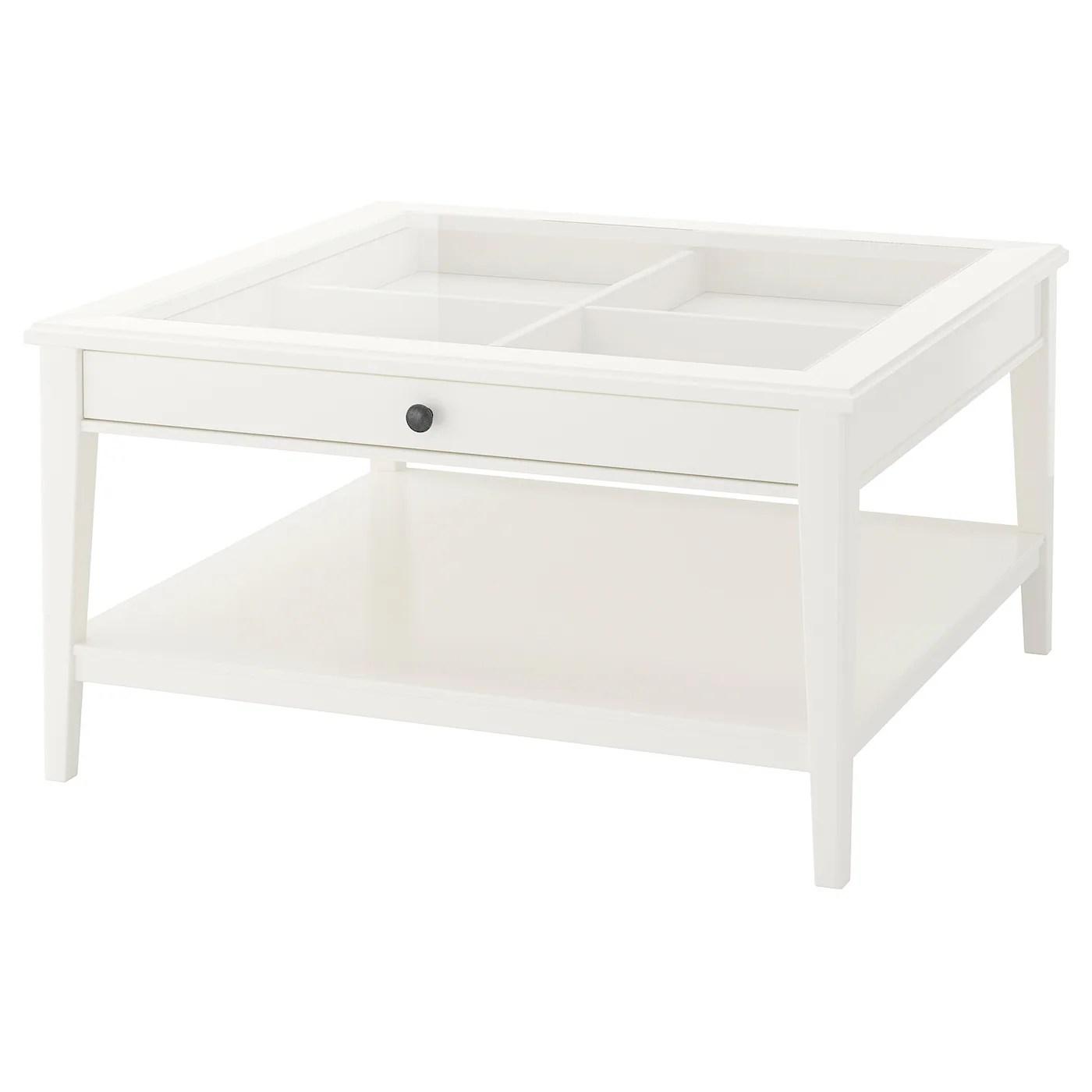liatorp coffee table white glass 93x93 cm