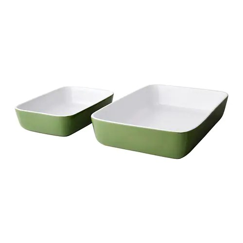 LYCKAD Oven/serving dish set