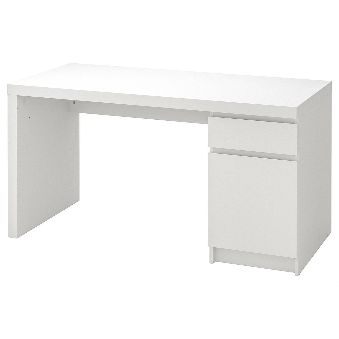 Malm White Desk 140x65 Cm Ikea