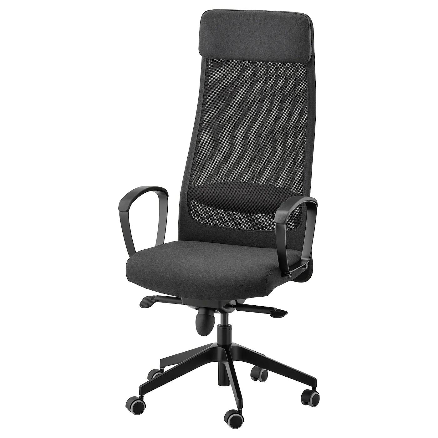 Markus Vissle Dark Grey Office Chair Ikea
