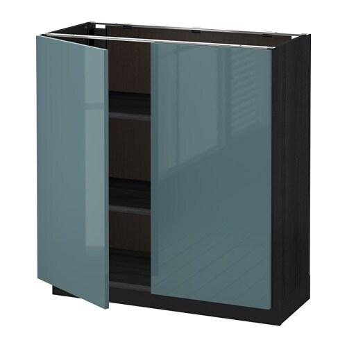 METOD Base Cabinet With Shelves2 Doors Blackkallarp Grey