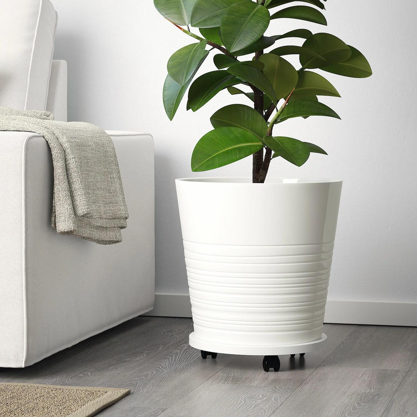 Muskot White Plant Pot 32 Cm Ikea