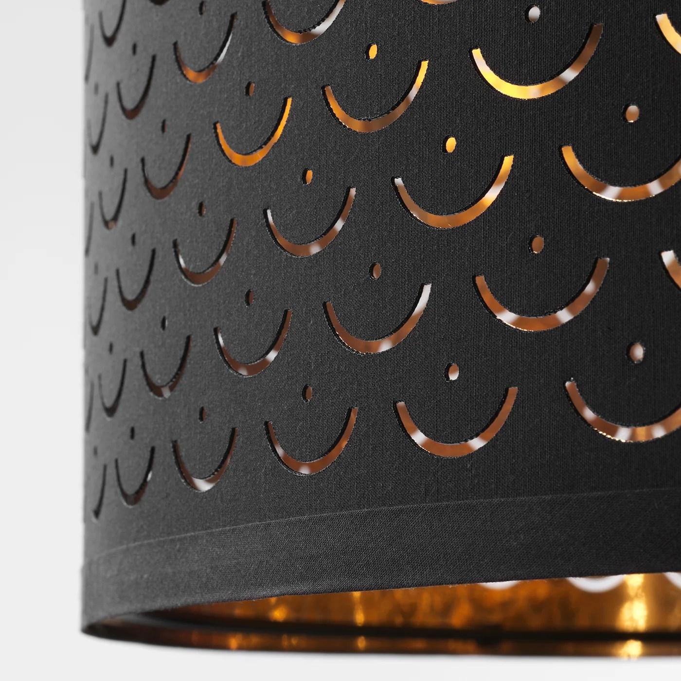 nymo lamp shade black brass colour 59 cm