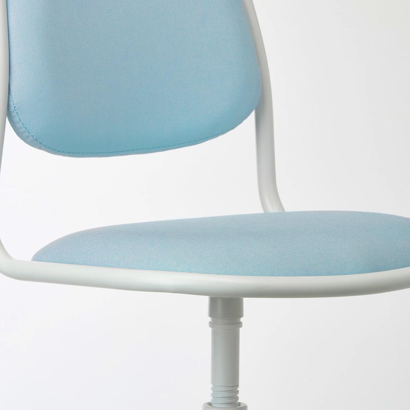 Orfjall White Vissle Blue Green Children S Desk Chair Ikea