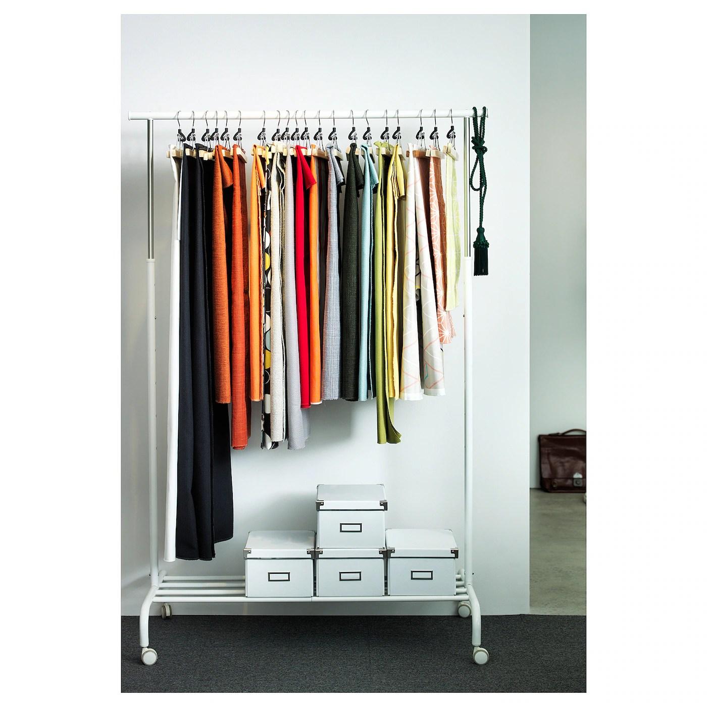 rigga clothes rack white